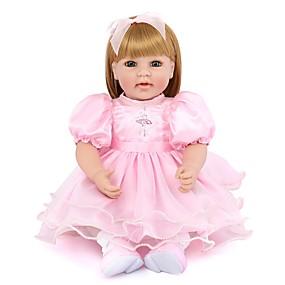 billige Legetøj-NPK DOLL Reborn-dukker Pige Doll Babypiger Reborn Baby Doll 22 inch Silikone Vinyl - Nyfødt livagtige Nuttet Håndlavet Børnesikker Ikke Giftig Børne Unisex / Pige Legetøj Gave / Naturlig hudfarve