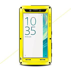 levne Pouzdra telefonu-Carcasă Pro Sony Xperia X Voda / Dirt / Otřesuvzdorný Celý kryt Pevná barva Pevné Kov pro Sony Xperia X