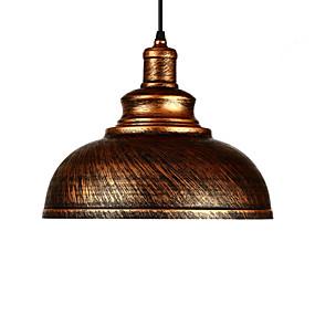billige Hengelamper-diameter 29cm vintage anheng lys 1-lys metall skygge stue spisestue hallway belysning