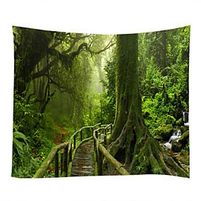billige Wall Tapestries-Have Tema Landskab Vægdekor 100% Polyester Moderne Vægkunst, Wall Gobeliner af