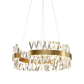 cheap Chandeliers-QIHengZhaoMing Chandelier Ambient Light Painted Finishes Metal Eye Protection 110-120V / 220-240V LED Light Source Included / LED Integrated