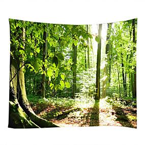 billige Wall Tapestries-Landskab Stilleben Vægdekor 100% Polyester Klassisk Moderne Vægkunst, Wall Gobeliner af