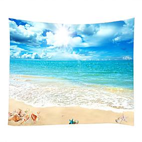 voordelige Wandtapijten-Strand Thema Watersport Muurdecoratie 100% Polyester Hedendaagse Modern Muurkunst, Wandkleden van