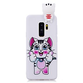 levne Pouzdra telefonu-Carcasă Pro Samsung Galaxy S9 Plus / S9 Nárazuvzdorné / Vzor / Udělej si sám Zadní kryt Kočka / Komiks / 3D  komiks Měkké TPU pro S9 / S9 Plus / S8 Plus
