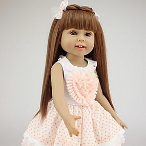 ราคาถูก ของเล่นสำหรับเด็ก-NPKCOLLECTION ตุ๊กตา NPK Reborn Dolls เด็กทารก 18 inch ซิลิโคนร่างกายเต็มรูปแบบ ซิลิโคน ไวนิล - ทารกแรกเกิด เหมือนจริง น่ารัก ทำด้วยมือ ดีไซน์มาใหม่ ขนตาปลอมมือ เด็ก ทุกเพศ Toy ของขวัญ