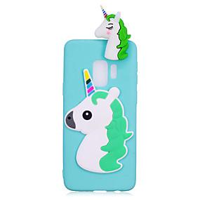 levne Pouzdra telefonu-Carcasă Pro Samsung Galaxy S9 Plus / S9 Nárazuvzdorné / Udělej si sám Zadní kryt Jednorožec / 3D  komiks Měkké TPU pro S9 / S9 Plus / S8 Plus