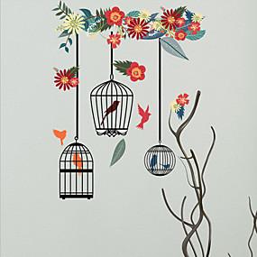 Χαμηλού Κόστους Life VC-Διακοσμητικά αυτοκόλλητα τοίχου - Animal αυτοκόλλητα τοίχου Ζώα / Άνθινο / Βοτανικό Σαλόνι / Υπνοδωμάτιο / Μπάνιο / Αφαιρούμενο / Επανατοποθετείται