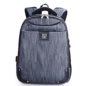 cheap School Bags-Men's Bags Nylon Backpack Zipper / Tiered Armor Gray