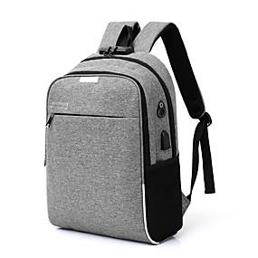 cheap Intermediate School Bags-Men's Bags Canvas Backpack Zipper Blue / Black / Gray