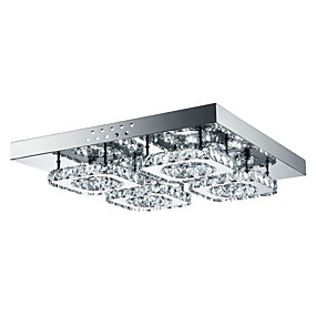 cheap Money Off-4-Light Flush Mount Ambient Light Others Metal Crystal, LED 85-265V White LED Light Source Included / LED Integrated