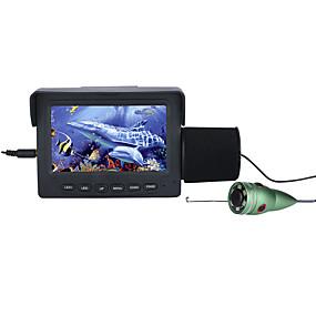 voordelige Bewakingscamera's-15m 1000tvl fishfinder onderwaterviscamera 4.3 lcd monitor 6pcs 1w ir led nachtzichtcamera voor vissen