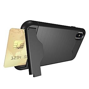 preiswerte iPhone Hüllen-Hülle Für Apple iPhone X / iPhone 8 Kreditkartenfächer / Stoßresistent / mit Halterung Rückseite Rüstung Weich TPU für iPhone X / iPhone 8 Plus / iPhone 8