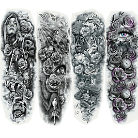 cheap Temporary Tattoos-4 pcs Tattoo Stickers Temporary Tattoos Cartoon Series Body Arts Face / Body / Hand