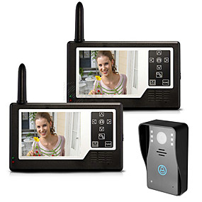 """billige Dørtelefonssystem med video-MOUNTAINONE SY3501A12 Trådløs 3,5"""" 960*480Pixel En til to video dørtelefon"""