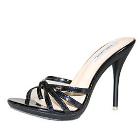cheap Women's Sandals-Women's Shoes PU(Polyurethane) Summer Slingback Sandals Stiletto Heel Open Toe Light Blue / Light Green / Nude