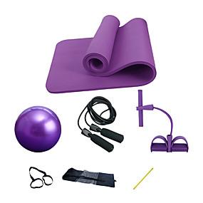 voordelige Pilates-Trainingsbal / Yogabal Yoga Mat Springtouw Weerstandsband / trainingsbuis Natuurlijk rubber Krachttraining Fysiotherapie Weerstandstraining Yoga Pilates Training&Fitness Voor Dames