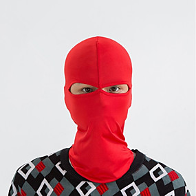 cheap Balaclavas & Face Masks-Balaclava Pollution Protection Mask Solid Color Windproof Warm Fast Dry Dust Proof Bike / Cycling Yellow Red Grey Spandex for Men's Women's Adults' Camping / Hiking Ski / Snowboard Outdoor Exercise