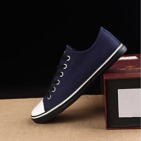 baratos Tênis Masculino-Homens Sapatos Confortáveis Lona Primavera & Outono Tênis Preto / Vinho / Branco / Ao ar livre