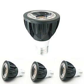 billige Innfelte LED-lys-ZDM® 4stk 7 W 1 LED perler LED-spotpærer Varm hvit Kjølig hvit Naturlig hvit 12 V 85-265 V Kommersiell Hjem / kontor
