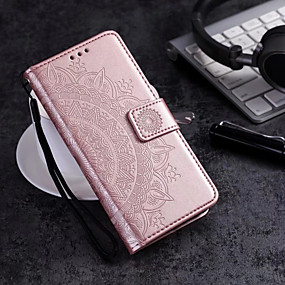 cheap Cellphone Case-Case For Samsung Galaxy S9 Plus / S9 Wallet / Card Holder / Flip Full Body Cases Flower Hard PU Leather for S9 / S9 Plus / S8 Plus