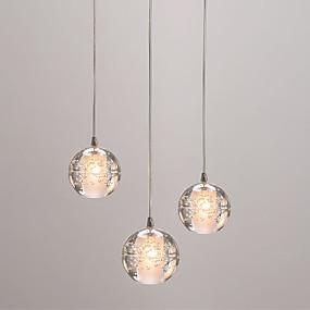 abordables Plafonniers-3 lumières Grappe Lampe suspendue Lumière d'ambiance Plaqué Métal Verre Style mini, Créatif 110-120V / 220-240V / G4 / Ampoule incluse / FCC