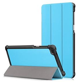 Χαμηλού Κόστους Άλλη υπόθεση-tok Για Lenovo Tab 7 Essential / Tab 7 με βάση στήριξης / Ανοιγόμενη Πλήρης Θήκη Μονόχρωμο Σκληρή PU δέρμα για Lenovo Tab 7 Essential / Lenovo Tab 7