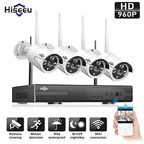 tanie Znane marki-hiseeu® 4ch wireless 960p z ip66 wodoodporny 4 * 1.3mp kamera IP pal / ntsc snr 0 szybkość transferu 10 mb / s