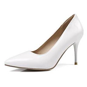 povoljno Pumps cipele-Žene Cipele na petu Stiletto potpetica PU Udobne cipele / Obične salonke Proljeće / Ljeto Bijela / Crvena / Pink / Dnevno