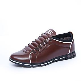 baratos Tênis Masculino-Homens Sapatos Confortáveis Couro Ecológico Outono Tênis Preto / Vermelho / Azul / Ao ar livre / EU40