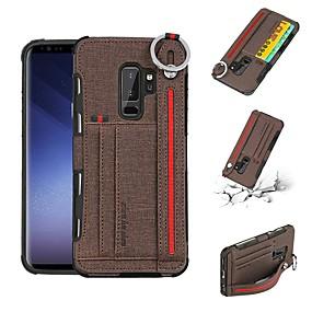 60ab411811573 غطاء من أجل Samsung Galaxy S9 Plus   S9 محفظة   حامل البطاقات   ضد الصدمات  غطاء خلفي لون سادة قاسي جلد PU إلى S9   S9 Plus   S8 Plus