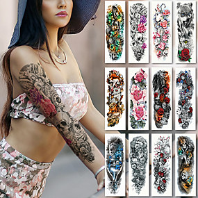 228e463006efe decal-style-temporary-tattoos-arm-temporary-tattoos-2 -pcs-flower-series-romantic-series-smooth-sticker-safety-body-arts-party-evening-birthday-party