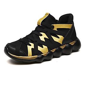 baratos Sapatos Esportivos Femininos-Mulheres Tênis Sem Salto Lona Conforto Corrida Outono & inverno Dourado / Preto / Vermelho