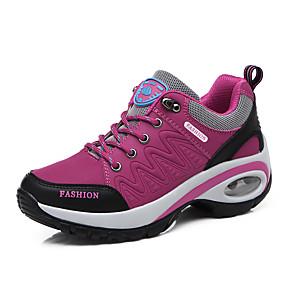 baratos Sapatos Esportivos Femininos-Mulheres Sapatos Confortáveis Sintéticos Outono & inverno Casual Tênis Caminhada Salto Plataforma Ponta Redonda Tachas Roxo / Fúcsia / Cinzento Escuro