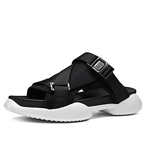 962d0ff0 Hombre Vaquero / Tela Elástica Verano Confort Zapatillas y flip-flops Negro  / Rojo