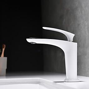 billige Ugentlige tilbud-Baderom Sink Tappekran - Nytt Design Krom / Malte Finishes Centersat Enkelt Håndtak Et HullBath Taps / Messing