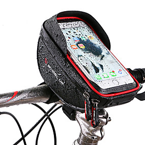 cheap Bike Frame Bags-Wheel up Cell Phone Bag Bike Handlebar Bag 6 inch Touch Screen Reflective Cycling for Cycling iPhone X iPhone XR Black Red Mountain Bike / MTB Road Bike / iPhone XS / iPhone XS Max