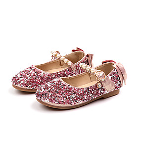 56357aabe086 Girls  Shoes PU(Polyurethane) Spring   Fall   Spring   Summer Comfort   Flower  Girl Shoes Flats Walking Shoes Sequin   Imitation Pearl   Buckle for Kids  ...