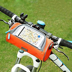 Недорогие Бардачки на руль-Сотовый телефон сумка Бардачок на руль 6 дюймовый Сенсорный экран Велоспорт для Велосипедный спорт iPhone X iPhone XR Оранжевый Розовый Военно-зеленный / iPhone XS / iPhone XS Max