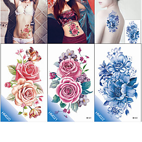 cheap Temporary Tattoos-decal-style-temporary-tattoos-tattoo-sticker-body-arm-chest-temporary-tattoos-3-pcs-flower-series-romantic-series-eco-friendly-new-design-body-arts