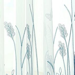 cheap Sheer Curtains-Modern Sheer Curtains Shades Two Panels Sheer / Bedroom