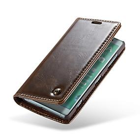 210ae7a1329c7 غطاء من أجل Sony Xperia XZ2 Compact محفظة   حامل البطاقات   قلب غطاء كامل  للجسم لون سادة قاسي جلد أصلي إلى Xperia XZ2 Compact