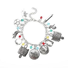 levne Náramky s přívěšky-Dámské Náramky s přívěšky Retro Duté kreativita dámy Tetování Anime Punk Slitina Náramek šperky Stříbrná Pro Street Bar