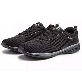 ebd60394 Hombre Zapatos Confort PU / Tela Elástica Verano Zapatillas de Atletismo  Running Gris / Azul / Negro / blanco
