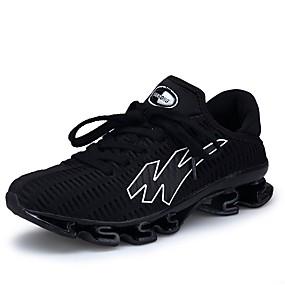 olcso Férfi sportcipők-Férfi Kényelmes cipők PU / Elasztikus szövet Ősz Sportcipők Gyalogló Fekete / Zöld / Kék