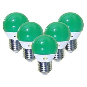 tanie Żarówki LED-EXUP® 5 szt. 5 W Żarówki LED kulki 450 lm E26 / E27 G45 12 Koraliki LED SMD 2835 Śłodkie Kreatywne Impreza Zielony 220-240 V 110-130 V