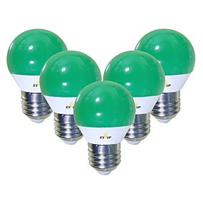 economico Lampadine LED-EXUP® 5 pezzi 5 W Lampadine globo LED 450 lm E26 / E27 G45 12 Perline LED SMD 2835 Romantico Creativo Feste Verde 220-240 V 110-130 V