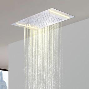 povoljno Popust Slavine-od nehrđajućeg čelika 304 110V ~ 220V izmjenične struje kupaonica kišni tuš glava s uštedu energije LED svjetiljke