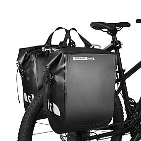 cheap Bike Trunk Bags-ROSWHEEL 20 L Bike Panniers Bag / Bike Rack Bag Waterproof, Rain-Proof, Moistureproof Bike Bag PVC(PolyVinyl Chloride) Bicycle Bag Cycle Bag Cycling Outdoor Exercise