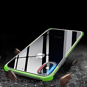 cheap iPhone Cases-Case For Apple iPhone XR / iPhone XS Max Shockproof / Translucent Back Cover Solid Colored Soft TPU for iPhone XS / iPhone XR / iPhone XS Max