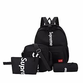 Unisex Bags Nylon Bag Set 4 Pieces Purse Set Zipper Letter Blue   Black    Red 94557da837